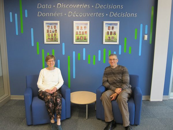 Nancy Reid and Don Estep at CANSSI's Headquarters