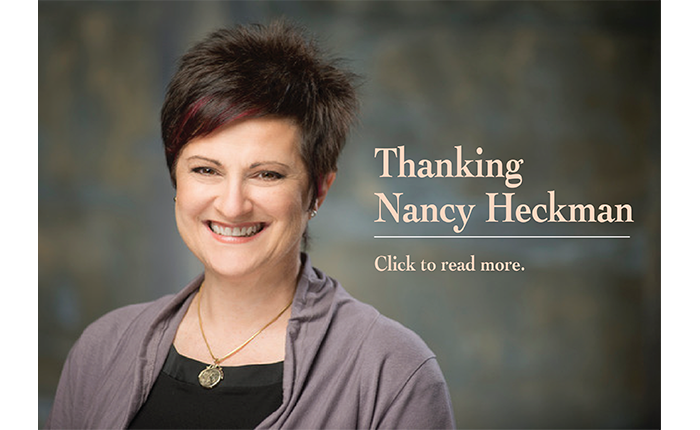 Thanking Nancy Heckman, click picture to read story.